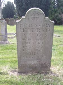 Headstone reference G54 Plan 4 - Hildred, Phyllis Vera & Hildred, Albert