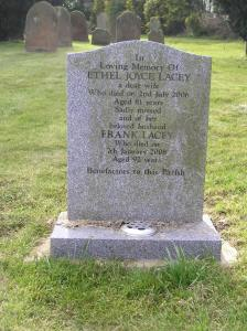Headstone reference G46 Plan 4 - Lacey, Ethel Joyce & Lacey, Frank