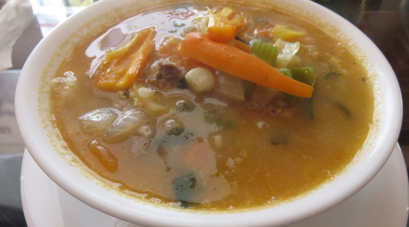Ajiaco de carne or beef stew Peruvian style