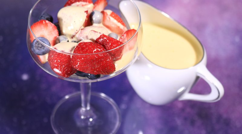 Pisco Sabayon with mixed berries a Christmas dessert