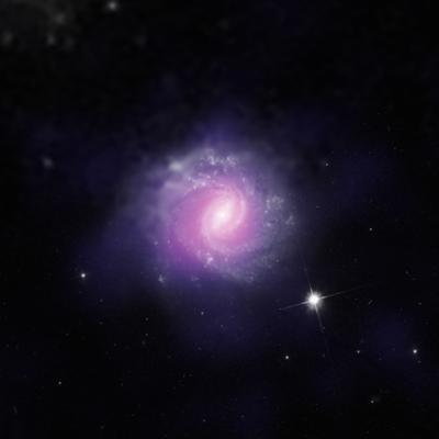 Esta galaxia, llamada IC 3639, contiene un ejemplo de un agujero negro supermasivo oscurecido. Crédito: ESO.