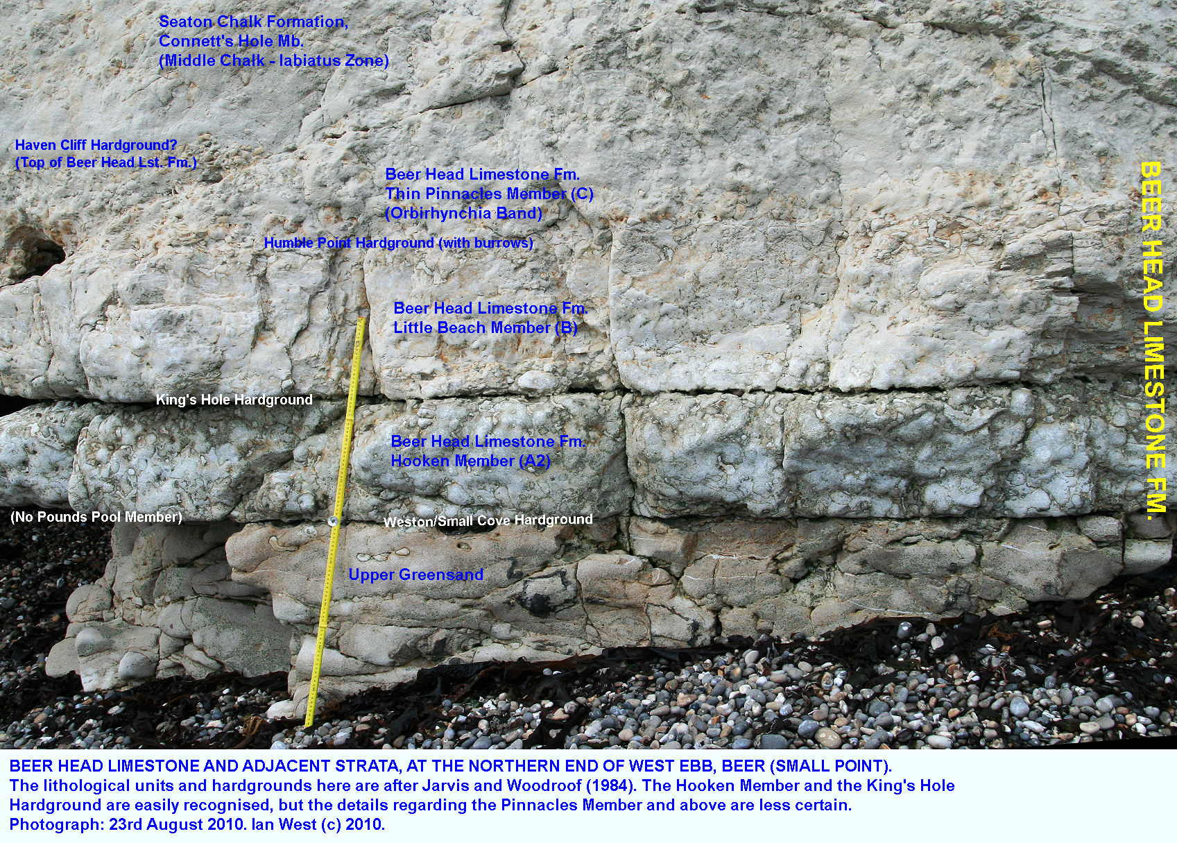 hight resolution of a relatively thin sequence of beer head limestone or cenomanian limestone near small point