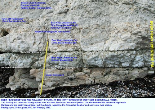 small resolution of a relatively thin sequence of beer head limestone or cenomanian limestone near small point