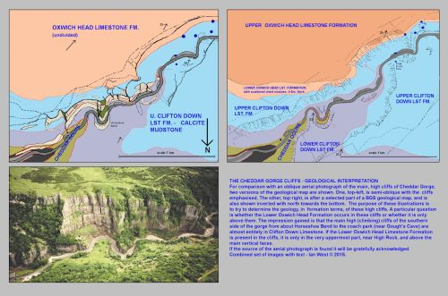 small resolution of cheddar cliffs in lower cheddar gorge with diagrams relating topographic features and geological outcrops mendip