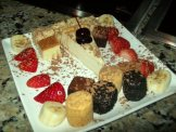An array fo desserts for dipping.
