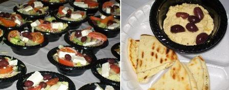 Salads hummus pita