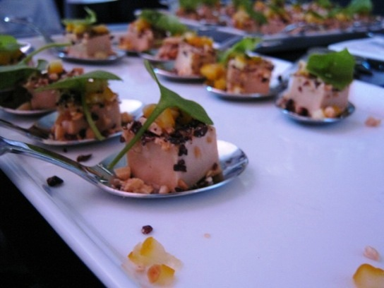 One of the many delectable samples in the Grand Tasting at the 2009 Pebble Beach Food and Wine Festival.