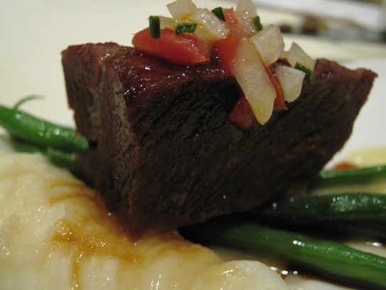 The Tender Braised Short Ribs from Roy's Downtown Los Angeles.