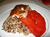 Smoked Salmon Grilled Watermelon Wild Rice