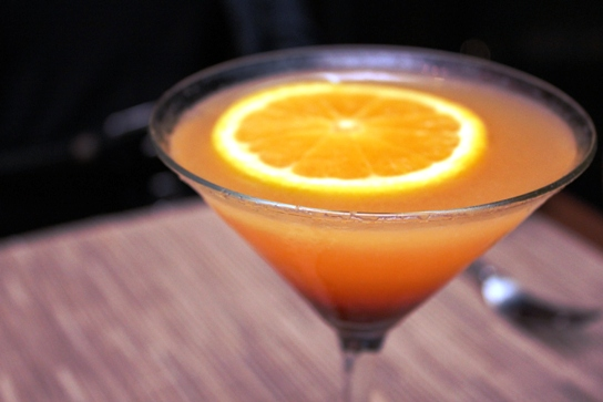 The cocktail version of The Sunset over Manhattan Beach.