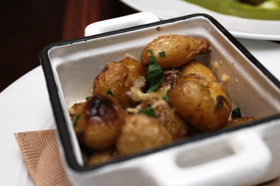 Perfect combination of potatoes and duck.