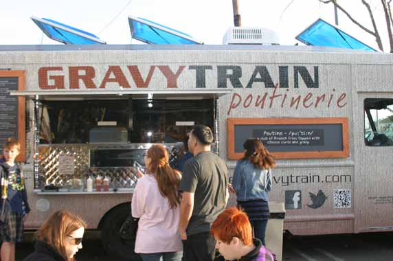 The Gravy Train Poutinerie Truck - Canadian Food on wheels.