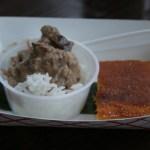 Mama Leah's Coconut Beef and Ann's Cornbread Bibingka