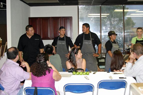 Executive Chef Tony Lu introducing his team