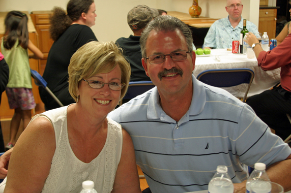 Keith, commissary owner, food truck event organizer and his wife Jan