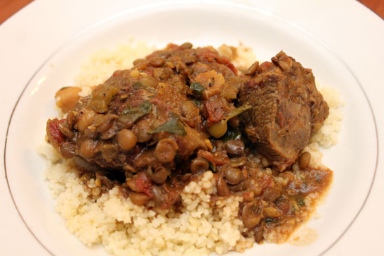 Moraccan Lamb Stew with Couscous