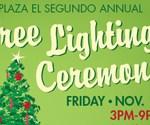 Tonight! Tree Lighting and Open House at Plaza El Segundo