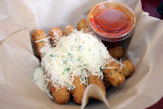 Mozzarella sticks are a good option for movie snacking.