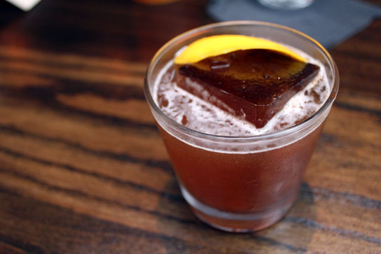 The Smokey Bourbon Cocktail, from the Hudson House Bar