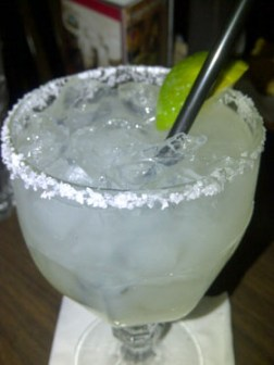 Margarita on the rocks, with a salted rim of course.