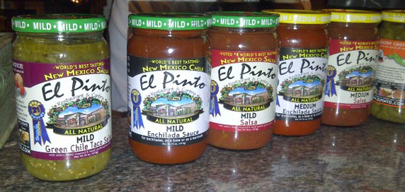 El Pinto's salsas - available at Ralphs