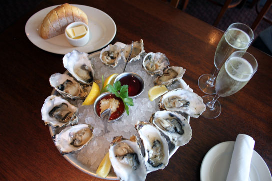 Oysters and Champagne at Bluewater Grill, Redondo Beach 004