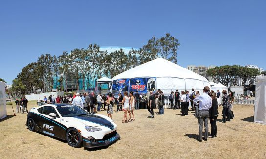 A back lot at the 39th Annual Toyota Grand Prix of Long Beach.