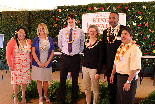 Representatives from the organizations participating in Project Mahalo pose with King's CEO, Mark Taira (far right).