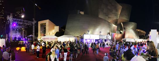 The streets in front of the Walt Disney Concert Hall provided the perfect setting for the Los Angeles Food and Wine Festival's Festa Italiana.