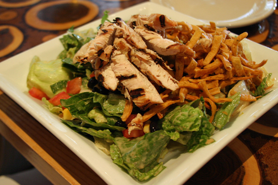 Southwest salad with chimayo dressing