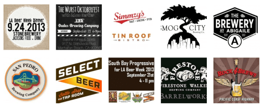 Some of the South Bay establishments participating in LA Beer Week.
