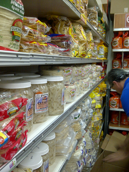 "The ""wall of tortillas"""