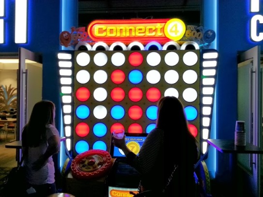Huge Connect Four at Dave and Busters Westchester