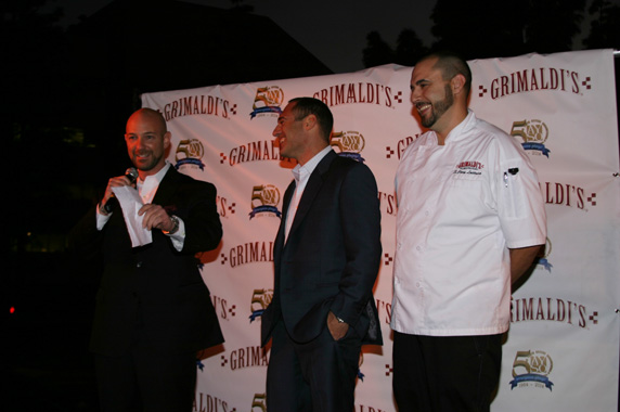Grimaldi's Pizzeria CEO Joey Ciolli, COO Eric Greenwalkd and Corporate Chef Cory Lattuca