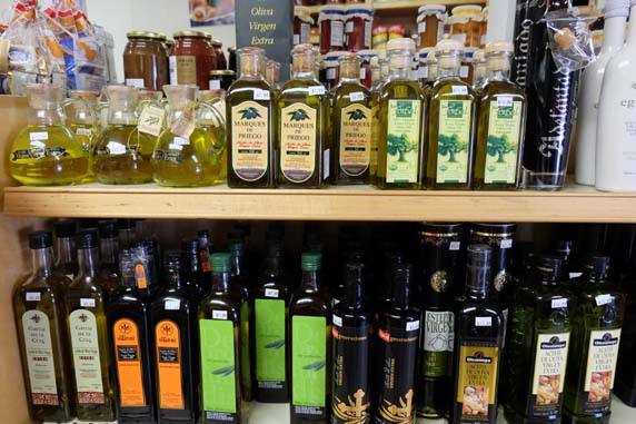 Nice assortment of extra virgin olive oil