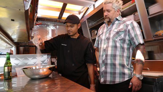 Guy Fieri with Chef and co-owner Pablo Resendiz