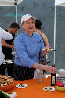 Border Grill's Mary Sue Milliken served Paula's Split Pea's