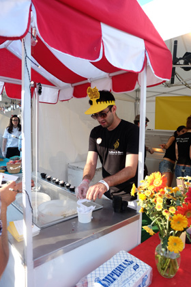 Saffron and Rose was on hand to serve Persian style ice cream
