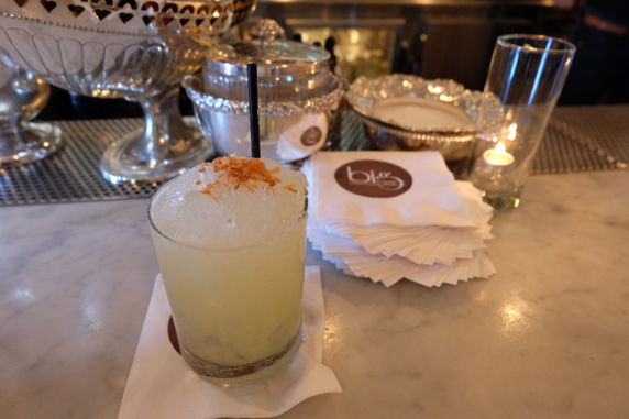Mo Chi Chi - Coconut infused vodka with pineapple, lime, amontillado sherry and toasted coconut