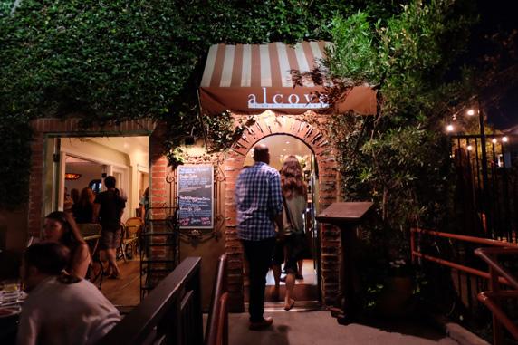 Alcove Café and Bakery entrance