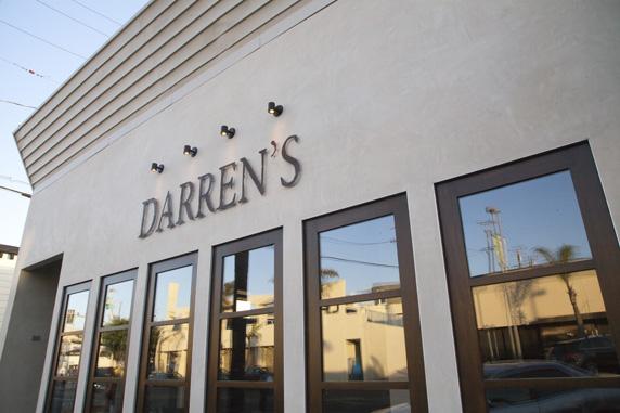 The new facade to Darren's Restaurant