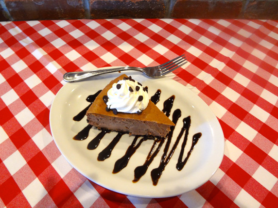 Grimaldi's Pizzeria introduces their new chocolate cheesecake