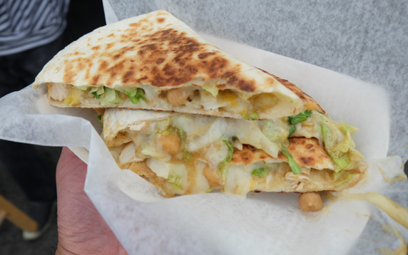 Chicken curry quesadillas