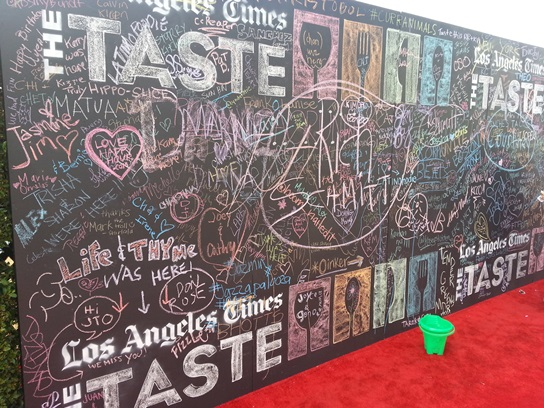 LA Times The Taste 2013 - Red Carpet and Chalk Board