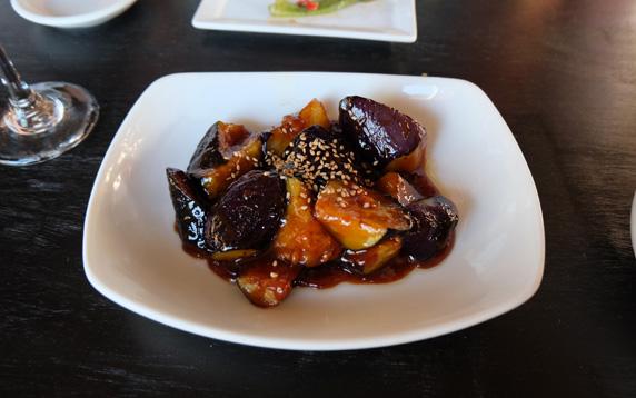 Nasu miso (miso glazed eggplant)
