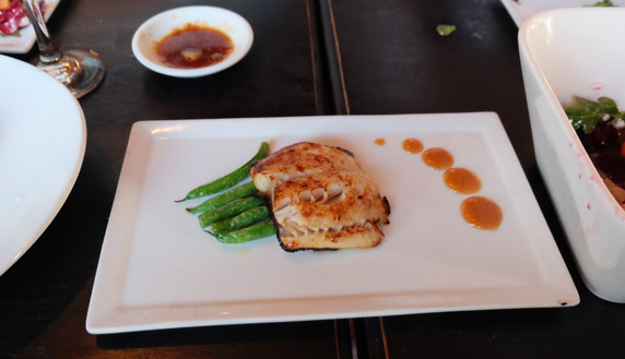 Miso Black Cod with flash fried green beans