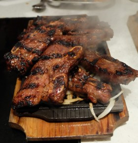 BBQ Galbi came steaming at the table
