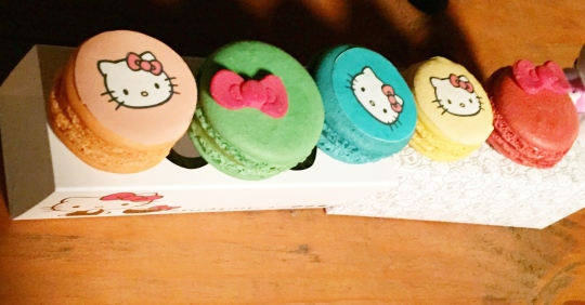 Hello Kitty Cafe macarons