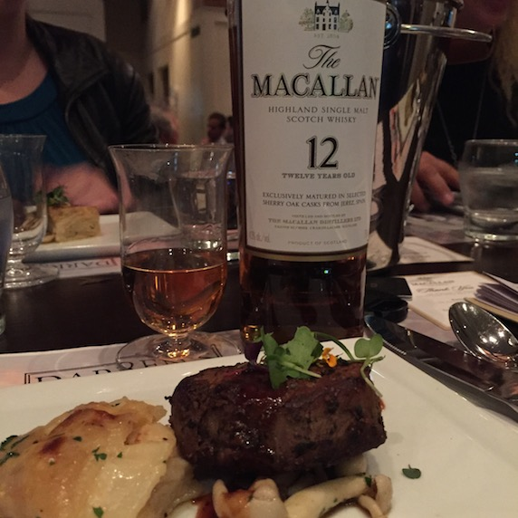 Dry aged tenderloin steak with the Macallan 12
