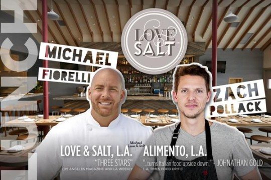 Chef Michael Fiorelli partners with Chef Zach Pollack from Alimento to prepare a one of a kind meal at Love & Salt for LAFW 2015.